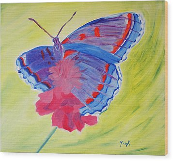 Winged Delight Wood Print