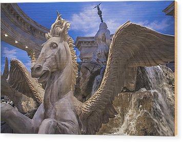 Winged Horse Wood Print by Glenn DiPaola