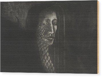 Winged Medusa Wood Print by Pati Hays