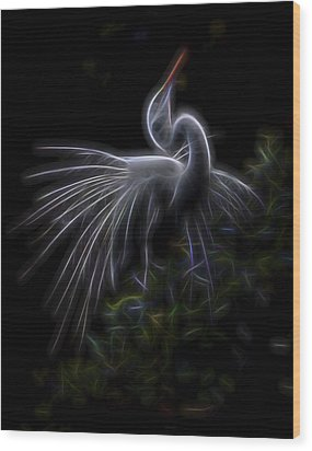 Wood Print featuring the digital art Winged Romance 2 by William Horden