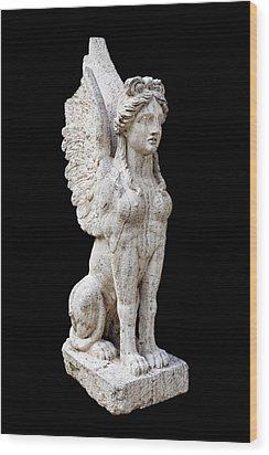 Winged Sphinx Wood Print by Fabrizio Troiani