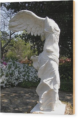 Winged Victory Nike Wood Print