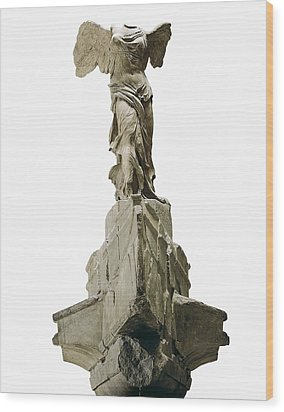 Wingel Victory Of Samothrace Or Nike Wood Print by Everett