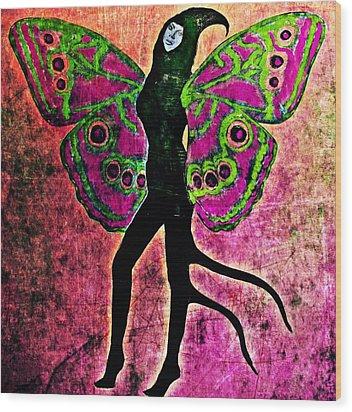 Wood Print featuring the digital art Wings 11 by Maria Huntley
