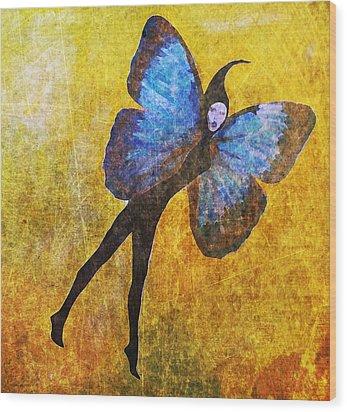 Wood Print featuring the digital art Wings 5  by Maria Huntley