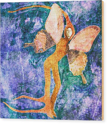 Wood Print featuring the digital art Wings 8 by Maria Huntley