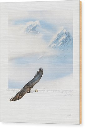 Wings As Eagles Wood Print by Cliff Hawley