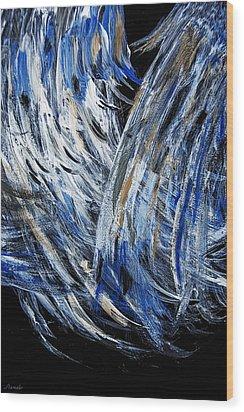 Wings Desired - Sold -original  Oil Painting- Wood Print by Renee Anderson