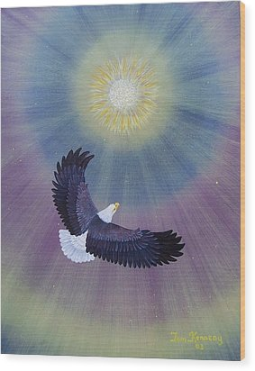 Wings Of Eagles Wood Print by Thomas F Kennedy