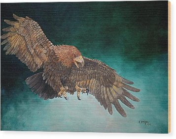 Wingspan Wood Print by Jean Yves Crispo