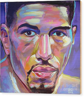 Wood Print featuring the painting Winky Wright by Robert Phelps