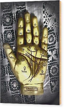 Winning Hand Wood Print by Lynn Sprowl