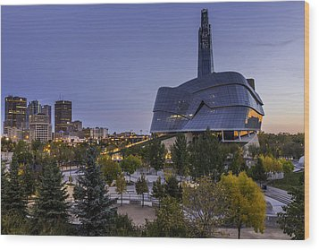 Winnipeg Dawn Wood Print