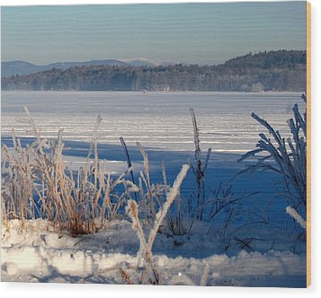 Winnisquam Winter Wood Print by Mim White