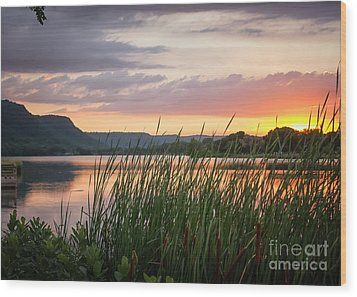 Wood Print featuring the photograph Winona Sunset by Kari Yearous