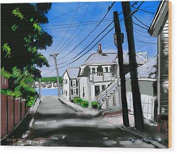 Winslow Street Wood Print by Jean Pacheco Ravinski