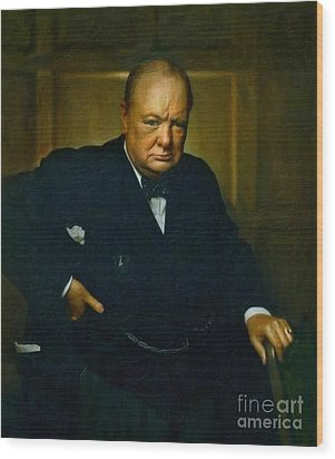Winston Churchill Wood Print
