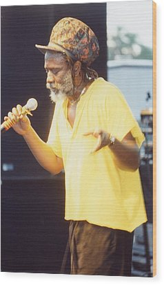 Winston Rodney Burning Spear Wood Print by Audrey Robillard