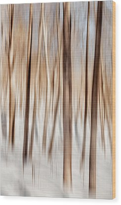 Winter Abstract Wood Print by Bill Wakeley
