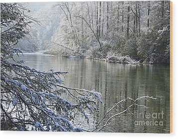 Winter Along Williams River Wood Print by Thomas R Fletcher