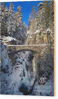 Winter At Christine Falls Wood Print by Inge Johnsson