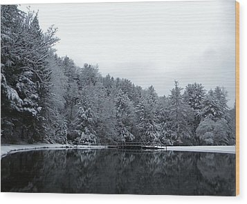 Winter At Clear Creek Wood Print by Anthony Thomas