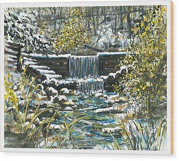 Winter At Iargo Springs Wood Print by Robin  Pelton