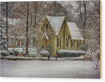 Winter At Lake Afton Wood Print