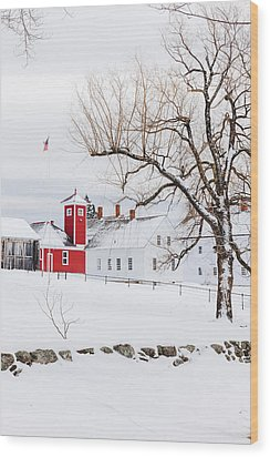 Wood Print featuring the photograph Winter At Shaker Village by Robert Clifford