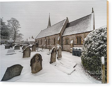 Winter At St Paul Wood Print by Adrian Evans