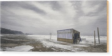 Winter At The Cabana Wood Print by Scott Norris