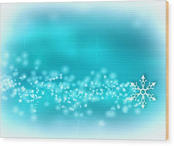 Winter Background Wood Print by Modern Art Prints