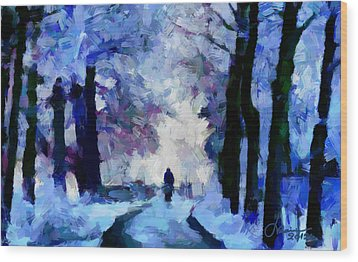 Winter Blues Tnm Wood Print by Vincent DiNovici