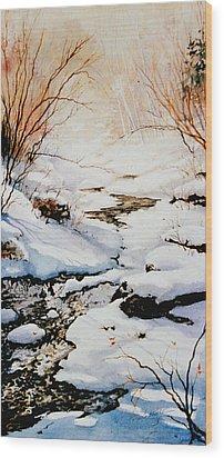 Winter Break Wood Print by Hanne Lore Koehler
