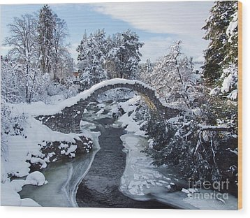 Winter - Carrbridge - Scotland Wood Print