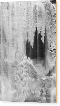 Winter Cave Wood Print by Jeannette Hunt