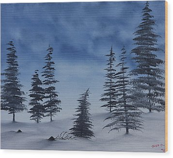 Winter Chill Wood Print