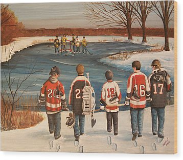 Winter Classic - 2010 Wood Print by Ron  Genest