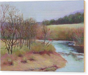Winter Creek                  Copyrighted Wood Print by Kathleen Hoekstra