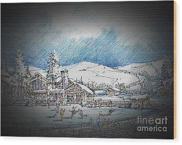 Winter Dance Wood Print by Andrew Drozdowicz
