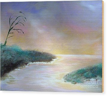 Winter Dawn 1 Wood Print by Alys Caviness-Gober