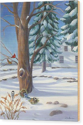 Winter Day Wood Print