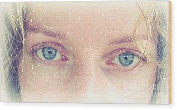 Eyes Wood Print