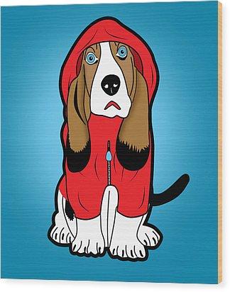 Winter Dog  Wood Print by Mark Ashkenazi