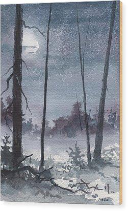 Winter Dreams Wood Print by Sean Seal
