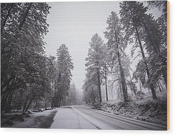Winter Driven Wood Print by Anthony Citro