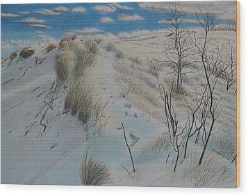 Winter Dune Wood Print