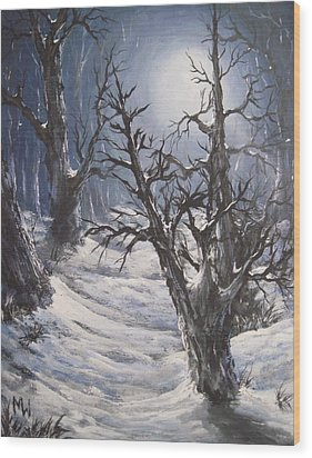 Winter Eve Wood Print by Megan Walsh