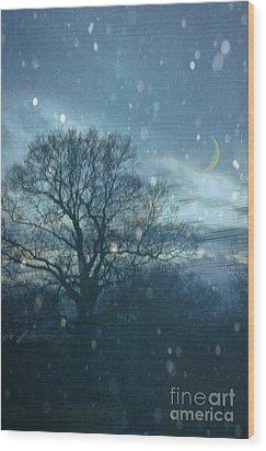 Winter Evening Wood Print by Jan Bickerton