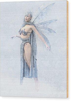 Winter Fairy Wood Print